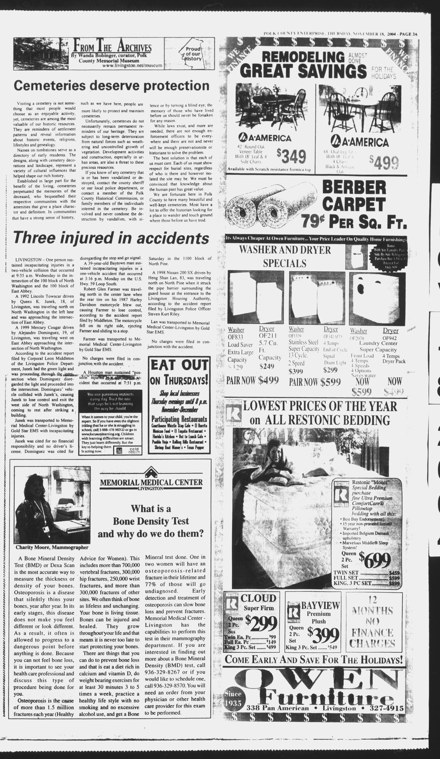 Polk County Enterprise (Livingston, Tex.), Vol. 122, No. 93, Ed. 1 Thursday, November 18, 2004                                                                                                      [Sequence #]: 3 of 20