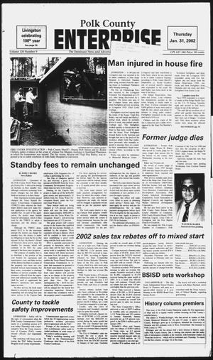 Primary view of object titled 'Polk County Enterprise (Livingston, Tex.), Vol. 120, No. 9, Ed. 1 Thursday, January 31, 2002'.