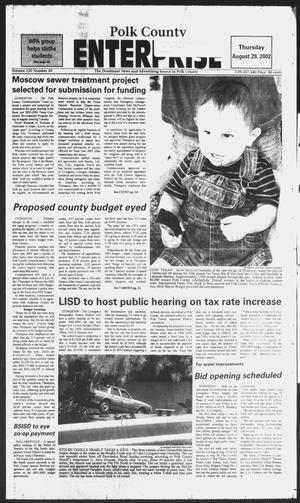 Primary view of object titled 'Polk County Enterprise (Livingston, Tex.), Vol. 120, No. 69, Ed. 1 Thursday, August 29, 2002'.
