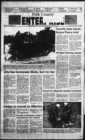 Primary view of object titled 'Polk County Enterprise (Livingston, Tex.), Vol. 119, No. 72, Ed. 1 Sunday, September 9, 2001'.