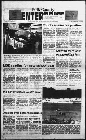 Primary view of Polk County Enterprise (Livingston, Tex.), Vol. 119, No. 63, Ed. 1 Sunday, August 12, 2001