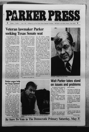 Primary view of object titled 'Parker Press (Denton, Tex.), Vol. 1, No. 1, Ed. 1 Tuesday, April 1, 1980'.