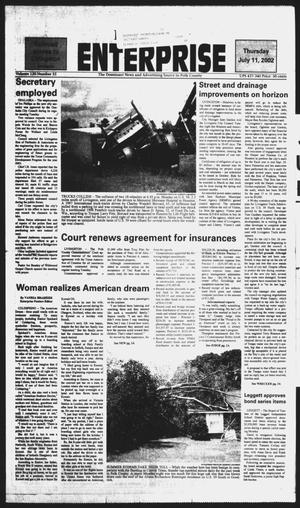 Primary view of object titled 'Polk County Enterprise (Livingston, Tex.), Vol. 120, No. 55, Ed. 1 Thursday, July 11, 2002'.