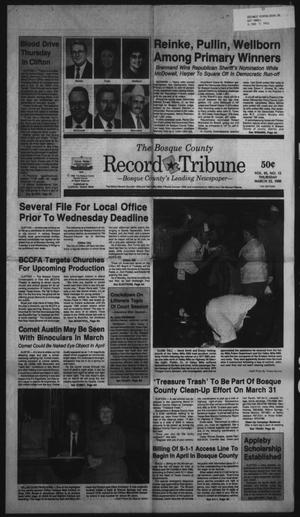 Primary view of object titled 'The Bosque County Record Tribune (Clifton, Tex.), Vol. 95, No. 12, Ed. 1 Thursday, March 22, 1990'.