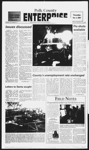 Primary view of object titled 'Polk County Enterprise (Livingston, Tex.), Vol. 122, No. 97, Ed. 1 Thursday, December 2, 2004'.