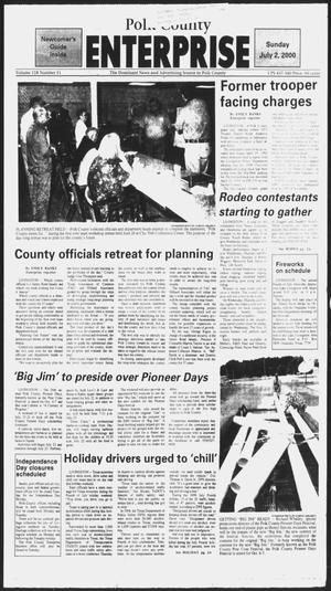 Primary view of object titled 'Polk County Enterprise (Livingston, Tex.), Vol. 118, No. 51, Ed. 1 Sunday, July 2, 2000'.