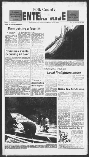 Primary view of object titled 'Polk County Enterprise (Livingston, Tex.), Vol. 118, No. 96, Ed. 1 Sunday, December 3, 2000'.