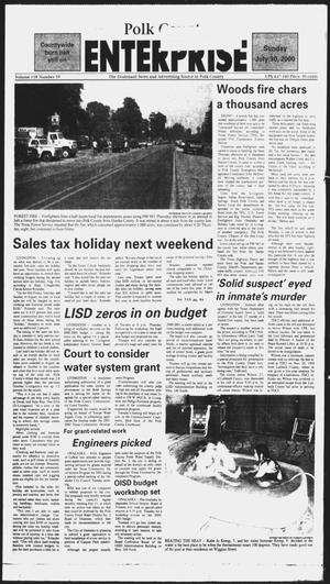Primary view of object titled 'Polk County Enterprise (Livingston, Tex.), Vol. 118, No. 59, Ed. 1 Sunday, July 30, 2000'.