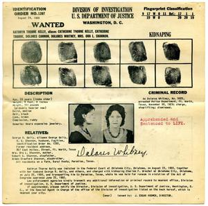 Primary view of object titled '[Dolores Whitney Fingerprint Chart, 1933 - Department of Justice]'.