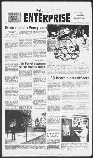 Primary view of object titled 'Polk County Enterprise (Livingston, Tex.), Vol. 120, No. 49, Ed. 1 Thursday, June 20, 2002'.