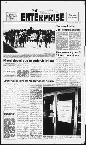 Primary view of object titled 'Polk County Enterprise (Livingston, Tex.), Vol. 120, No. 11, Ed. 1 Thursday, February 7, 2002'.