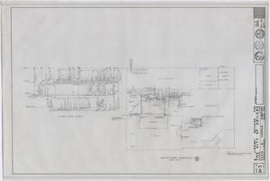 Primary view of object titled 'Abilene Public Library, Abilene, Texas: Second Floor Plumbing Plan'.