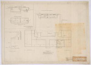Primary view of object titled 'High School Building, Paint Rock, Texas: Foundation Plan'.