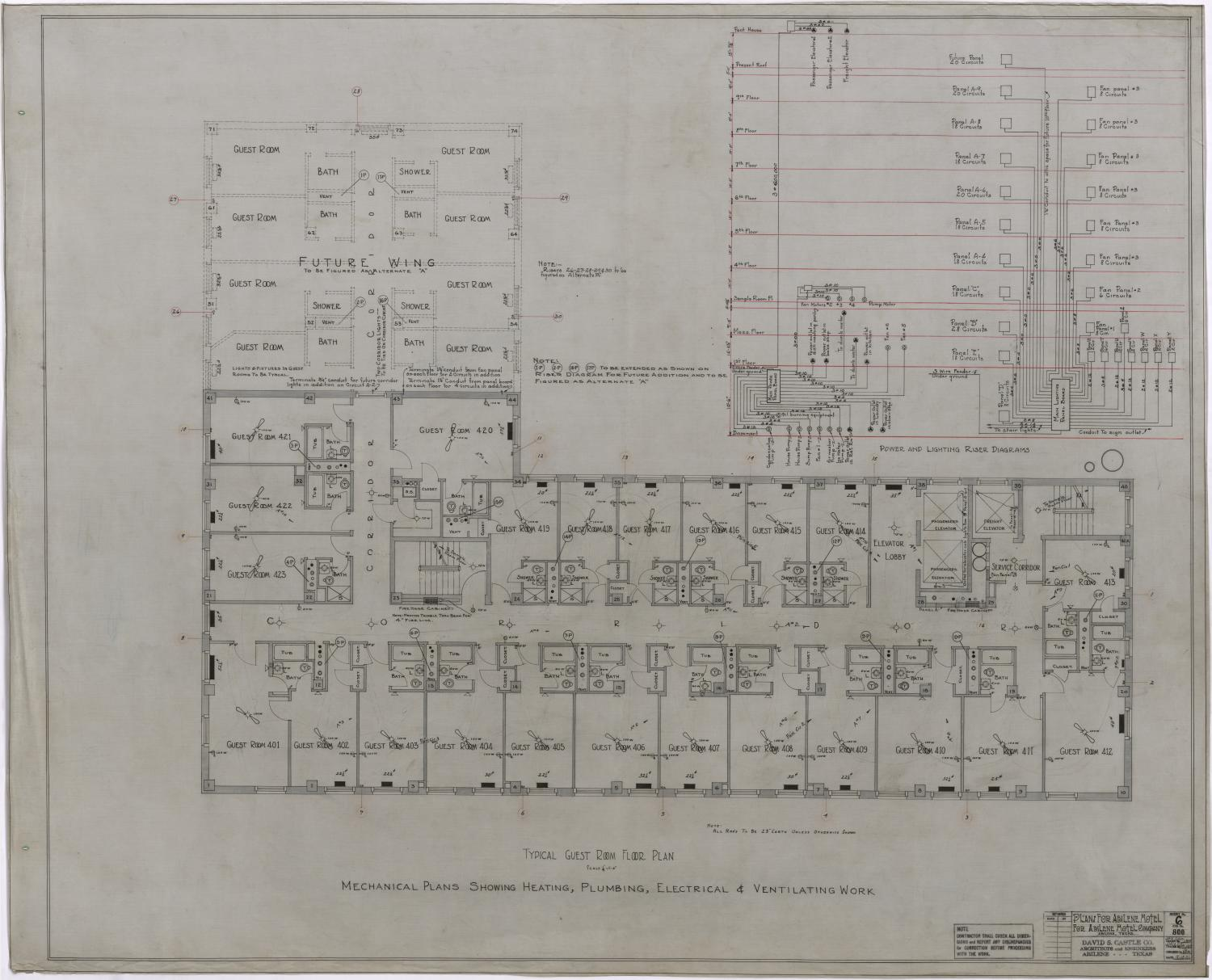 Abilene Hotel Mechanical Plans: Typical Guest Room Floor Plan - The ...