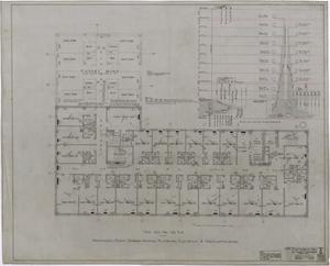 Primary view of object titled 'Abilene Hotel Mechanical Plans: Typical Guest Room Floor Plan'.