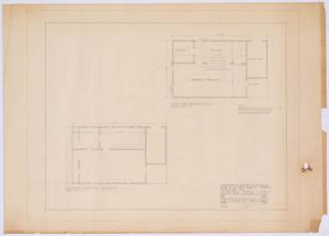 Primary view of object titled 'Silver Peak School Alterations, Silver, Texas: FloorPlans'.
