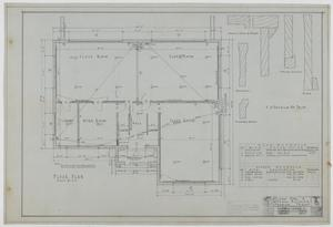Primary view of object titled 'School Building, Sedwick, Texas: Floor Plan'.