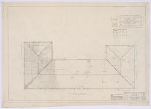 Primary view of object titled 'Pyron Consolidated County Line Rural High School, Pyron, Texas: Roof Plan'.
