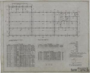 Primary view of object titled 'Abilene Hotel: Present Roof Framing Plan'.