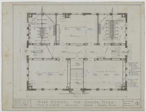 Primary view of object titled 'Ward School Building, Ranger, Texas: Ground Floor Mechanical Plan'.