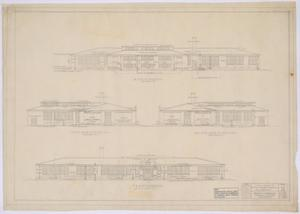 Primary view of object titled 'School Building, Pecos County, Texas: Elevations'.