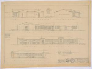 Primary view of object titled 'School Building, Spur, Texas: Elevations of Existing Building'.