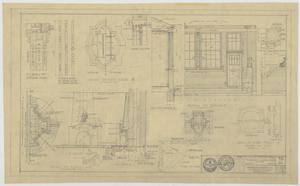 Primary view of object titled 'Field House and Primary School, Kermit, Texas: Terrace and Fireplace Details'.