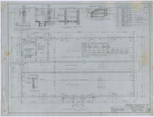 Primary view of object titled 'High School, Knox City, Texas: Foundation Plan'.