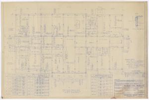 Primary view of object titled 'Sterling County Courthouse: First Floor Framing Plan'.