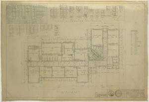 Primary view of object titled 'School Building, Hermleigh, Texas: Floor Plan and Schedules'.