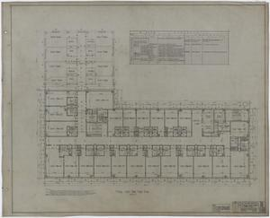 Primary view of object titled 'Abilene Hotel: Typical Guest Room Floor Plan'.