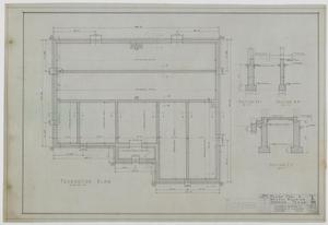 Primary view of object titled 'School Building, Sedwick, Texas: Foundation Plan'.