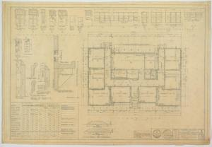 Primary view of object titled 'School Building, Ira, Texas: Floor Plan and Room Finishes'.