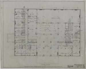 Primary view of object titled 'Abilene Hotel Mechanical Plans: Mezzanine Floor Plan'.