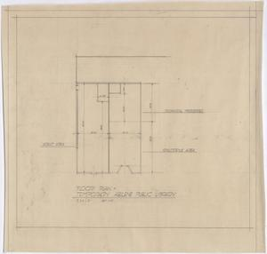 Primary view of object titled 'Abilene Public Library, Abilene, Texas: Floor Plan'.