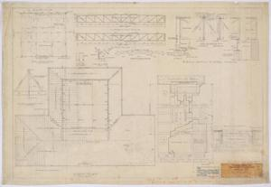 Primary view of object titled 'School Building, Pecos County, Texas: Roof Plan'.