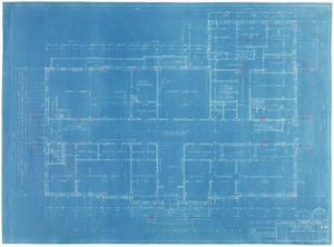 Primary view of object titled 'Sterling County Courthouse: First Floor Plan'.