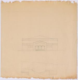 Primary view of object titled 'High School Gymnasium Proposal, Ozona, Texas: Drawing'.