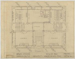 Primary view of object titled 'Ward School Building, Ranger, Texas: Floor Plan'.