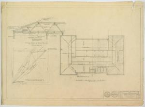 Primary view of object titled 'School Building, Ira, Texas: Roof Framing Plan'.