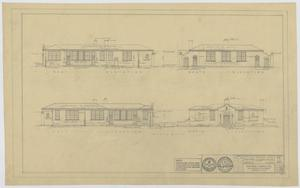 Primary view of object titled 'Field House and Primary School, Kermit, Texas: Elevations'.