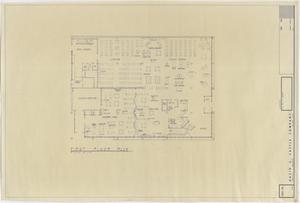 Primary view of object titled 'Abilene Public Library, Abilene, Texas: First Floor Plan'.