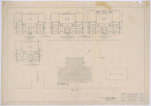 Primary view of object titled 'Grade School, Knox City, Texas: Scheme for Reduction in Size of Project as Covered by Alternates'.