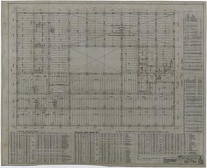 Primary view of object titled 'Abilene Hotel: Mezzanine Floor Framing Plan'.