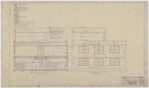 Primary view of object titled 'Iraan High School Addition: Cross Section and End Elevation'.