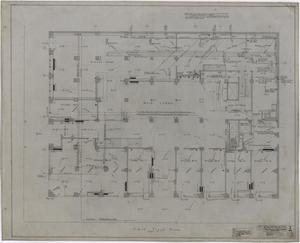 Primary view of object titled 'Abilene Hotel Mechanical Plans: First Floor Plan'.