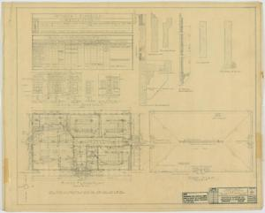 Primary view of object titled 'School Building, Hamlin, Texas: Plans, Schedules, and Details'.