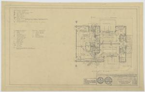 Primary view of object titled 'Field House, Kermit, Texas: Floor Plan and Electrical Work'.