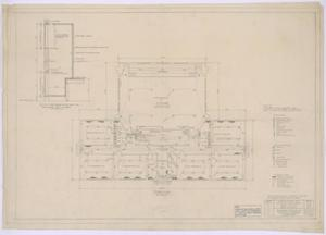 Primary view of object titled 'Grade School, Knox City, Texas: Mechanical Floor Plan'.