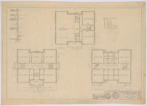 Primary view of object titled 'School Building, Spur, Texas: Floor Plans of Existing Building'.